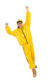 Modern dancer in yellow dress Royalty Free Stock Photos