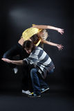 Modern dancers Royalty Free Stock Image