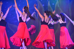 Modern dancers. Dancer dancing Modern dance in end of the year classes show in karmiel Israel Royalty Free Stock Image