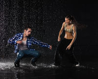 Modern dances. Royalty Free Stock Images