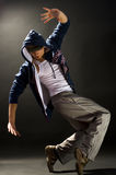 Modern dances. A young nice man dancing modern dances royalty free stock image