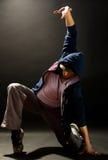 Modern dances. A young nice man dancing modern dances stock images