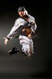 Modern dances. A young nice man dancing modern dances stock photos