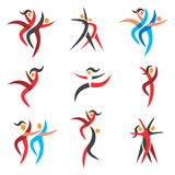 Modern dancing  icons Royalty Free Stock Photography