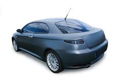 Modern dark blue car isolated Stock Photography