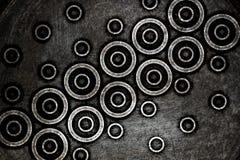 Modern dark circles background Stock Images