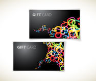 Modern dark gift card templates Stock Photos