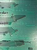 Modern dark green circuit board Stock Image