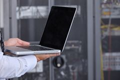 Modern datacenter server room Royalty Free Stock Images