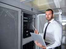 Modern datacenter server room Royalty Free Stock Photos
