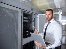 Modern datacenter server room Royalty Free Stock Photos