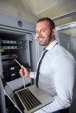 Modern datacenter server room Stock Photography