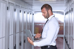 Modern datacenter server room Royalty Free Stock Photography