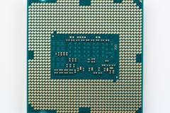 Modern datorprocessor royaltyfri foto