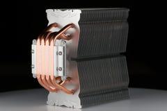 Modern datorprocessorkylare eller element eller kylfläns fotografering för bildbyråer