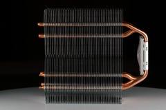 Modern datorprocessorkylare eller element eller kylfläns royaltyfri foto