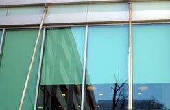 Modern de bureaubouw venster Stock Afbeelding