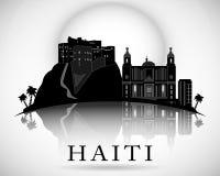 Modern de Horizonontwerp van Haïti Vector Silhouet Royalty-vrije Stock Afbeeldingen