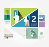 Modern de informatie grafisch malplaatje van de Ontwerp Minimaal stijl. Stock Foto