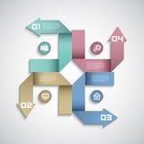 Modern de lay-outontwerp van infographicsopties Stock Afbeelding