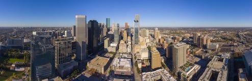 Modern de stadssatellietbeeld van Houston, Texas, de V.S. stock afbeelding