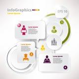 Modern de toespraak infographic malplaatje van de stijl vectorbel Stock Foto