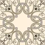 Modern decor van de traditionele Ceramische decoratieve tegels stock illustratie
