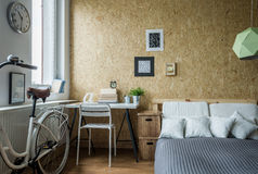 Modern decorations in room Stock Images