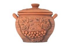 Crock. Modern Decorative Arts of Ukraine. Hand made with clay Stock Photo