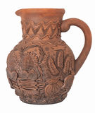 Pitcher handmade. Modern Decorative Arts of Ukraine. Hand made with clay Stock Images