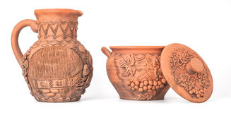 Pottery. Modern Decorative Arts of Ukraine. Hand made with clay Stock Photo