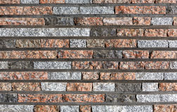 Modern decorative colored stone brick wall background Stock Images