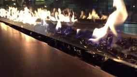 Modern decorative fireplace Stock Photos