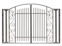 Modern decorative, light gates. Royalty Free Stock Image