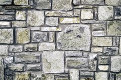 Modern decorative processing of a stone wall royalty free stock photography