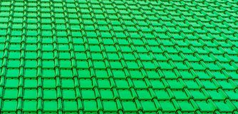 Modern deep green glossy rooftop tiling texture background stock photo