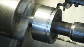 Modern del för metall för plugghästar för numerisk kontroll för maskindator i fabrik, tillverkning, bransch arkivfilmer