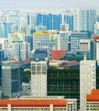 Modern density city architecture Singapore. Density crowded city architecture of living districts of Singapore stock photography