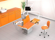 Modern dental office interior. With yellow color theme Stock Images