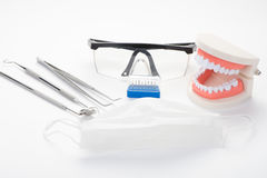 Modern dental office tools Royalty Free Stock Images