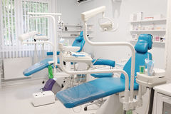 Modern dental room. Equipment of a modern dental room stock image