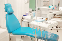 Modern dental room. Equipment of a modern dental room royalty free stock images