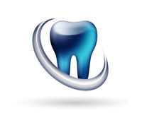 Modern dentist logo. Modern shiny glossy dentist logo Royalty Free Illustration