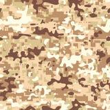 Modern Desert Camo. Seamless digital multicam desert pattern camouflage Royalty Free Stock Photo