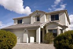 Modern Desert Home. New two-story three bedroom desert home in Maricopa, Arizona stock image