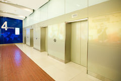 Modern deserted lift lobby Stock Photography