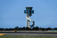 Modern design airport control tower Stock Image