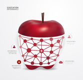Modern Design apple dot Minimal style infographic template Royalty Free Stock Photo