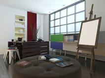 Modern design or art studio Stock Photos