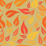 Modern design autumn leaves texture. Stock Photo